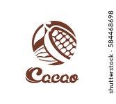 cacao logo design. | Shutterstock .eps vector #584468698