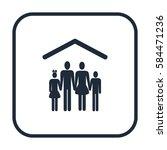 family icon | Shutterstock .eps vector #584471236