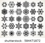 set of ornate lacy doodle... | Shutterstock .eps vector #584471872