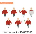 grandfather character for... | Shutterstock .eps vector #584472985