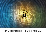 technology security concept.... | Shutterstock .eps vector #584475622
