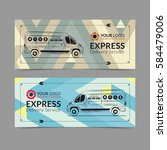 set of express delivery service ...   Shutterstock .eps vector #584479006