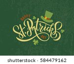 vector illustration of happy... | Shutterstock .eps vector #584479162