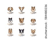 Illustration Of Cute Dog Logo...