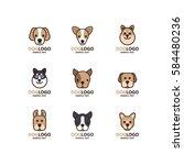 Illustration Of Cute Dog Logo...