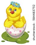 vector illustration of a... | Shutterstock .eps vector #584483752