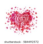 happy woman's day text as... | Shutterstock .eps vector #584492572