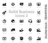 set of black solid business...   Shutterstock .eps vector #584494546