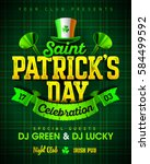 saint patrick's day celebration ... | Shutterstock .eps vector #584499592
