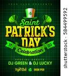 saint patrick's day celebration ... | Shutterstock .eps vector #584499592