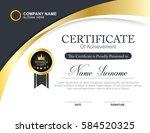 vector certificate template | Shutterstock .eps vector #584520325