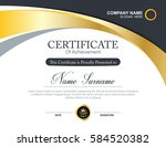vector certificate template | Shutterstock .eps vector #584520382