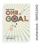 goal concept. creative modern... | Shutterstock .eps vector #584521042