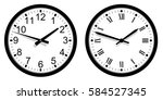 modern and vintage wall clock... | Shutterstock .eps vector #584527345