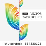flayer design with colored... | Shutterstock .eps vector #584530126