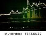 fintech investment financial... | Shutterstock . vector #584530192