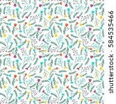 floral seamless pattern in... | Shutterstock .eps vector #584535466
