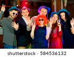 young peoples birthday party | Shutterstock . vector #584536132