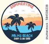 summer time   vector... | Shutterstock .eps vector #584538238