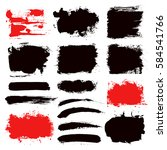 grunge paint vector. painted... | Shutterstock .eps vector #584541766