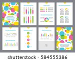 page layout template for... | Shutterstock .eps vector #584555386