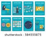astrology house brochure cards... | Shutterstock .eps vector #584555875