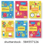 premium quality scientific ... | Shutterstock .eps vector #584557126