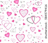 heart seamless pattern.colorful ... | Shutterstock .eps vector #584579416