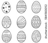 doodle of easter egg collection ...
