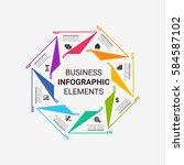 infographics template   Shutterstock .eps vector #584587102