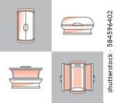 equipment for tanning studios... | Shutterstock .eps vector #584596402