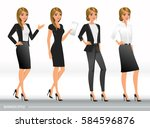 elegant business women in... | Shutterstock .eps vector #584596876