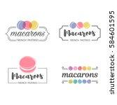 set of vector logo macaron for... | Shutterstock .eps vector #584601595