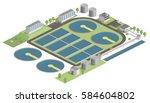 vector illustration of a water... | Shutterstock .eps vector #584604802