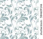 floral seamless pattern. sample ... | Shutterstock .eps vector #584609146