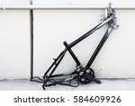 chaining a bicycle did not... | Shutterstock . vector #584609926
