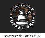 cezve logo   vector... | Shutterstock .eps vector #584614102