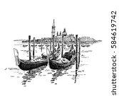 venice gandola | Shutterstock .eps vector #584619742