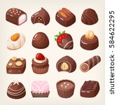 Set Of Colorful Chocolate...