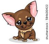 Stock vector chihuahua small cute dog with big eyes 584630422