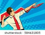 business success businessman... | Shutterstock .eps vector #584631805