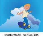 skateboarding | Shutterstock .eps vector #584633185