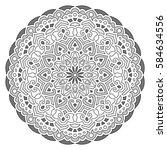 mandala. vector ethnic oriental ... | Shutterstock .eps vector #584634556