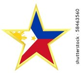 gold star with a flag of... | Shutterstock .eps vector #58463560