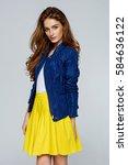 beautiful female model | Shutterstock . vector #584636122