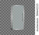transparent glass door ... | Shutterstock .eps vector #584642215
