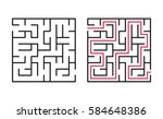 vector labyrinth. maze  ... | Shutterstock .eps vector #584648386