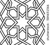 geometric interlaced pattern.... | Shutterstock .eps vector #584651566