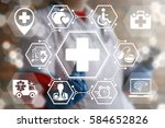 medicine health care insurance... | Shutterstock . vector #584652826