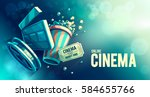 online cinema art movie... | Shutterstock .eps vector #584655766